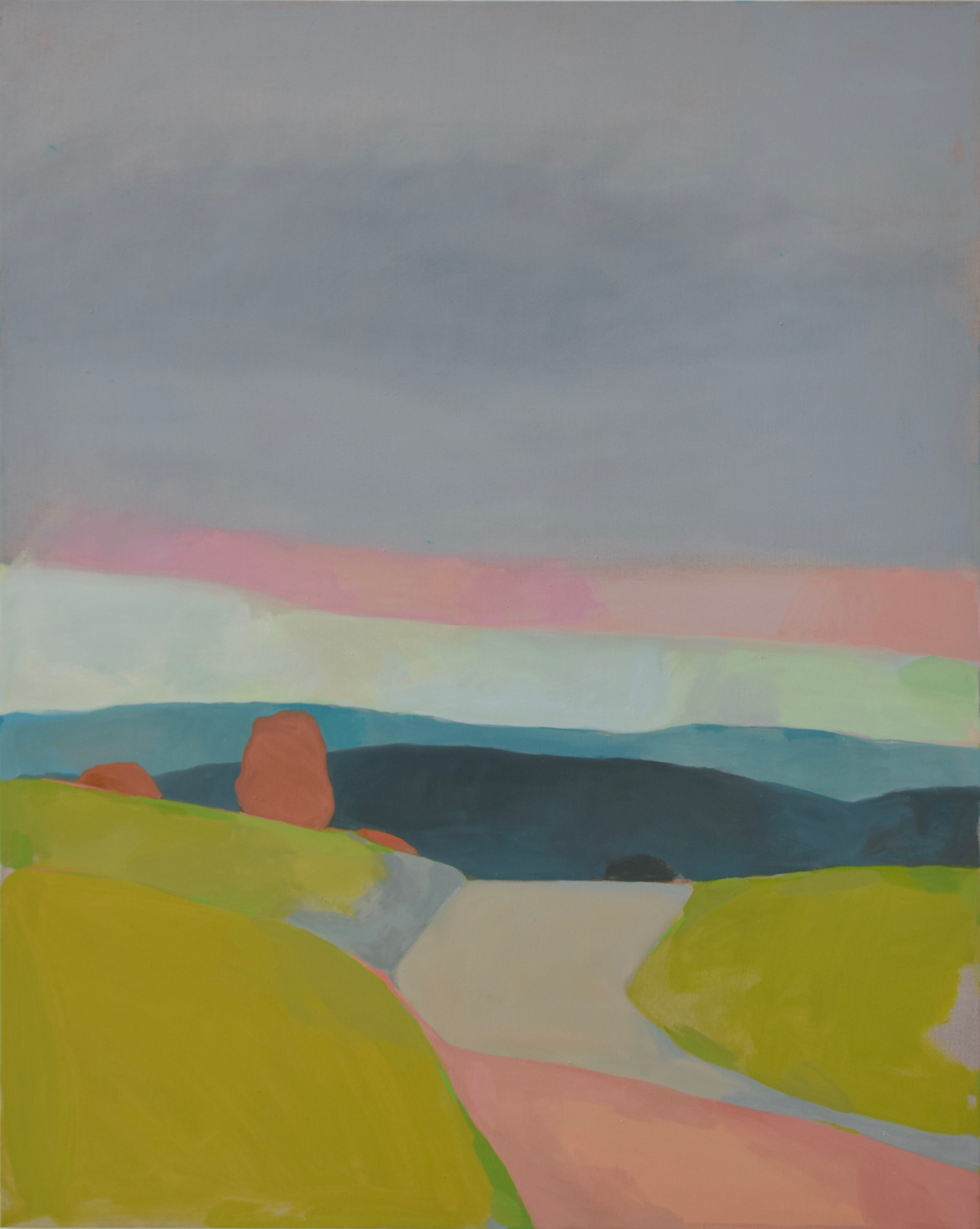 Karen Smidth - MENDOCINO HILLS AT SUNDOWN - oil on linen