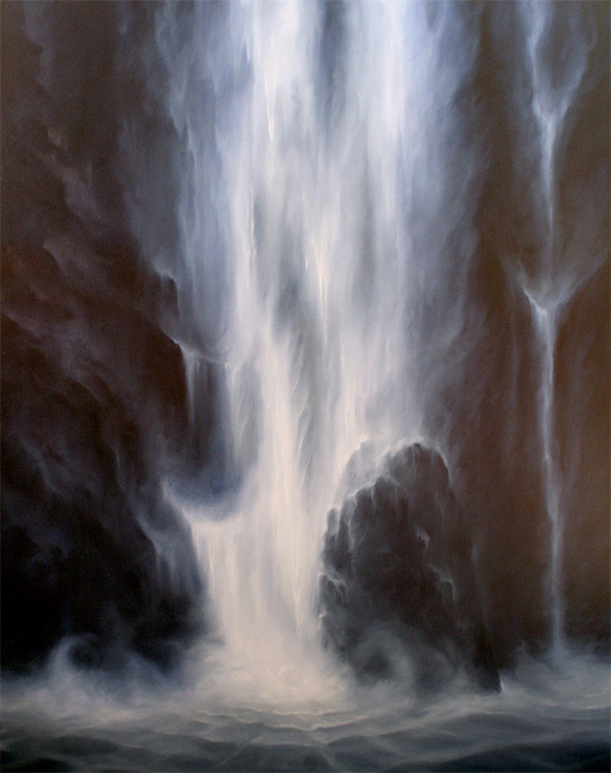 Artist Dawn Waters Baker, TO THE LOWEST PLACE oil on canvas 60