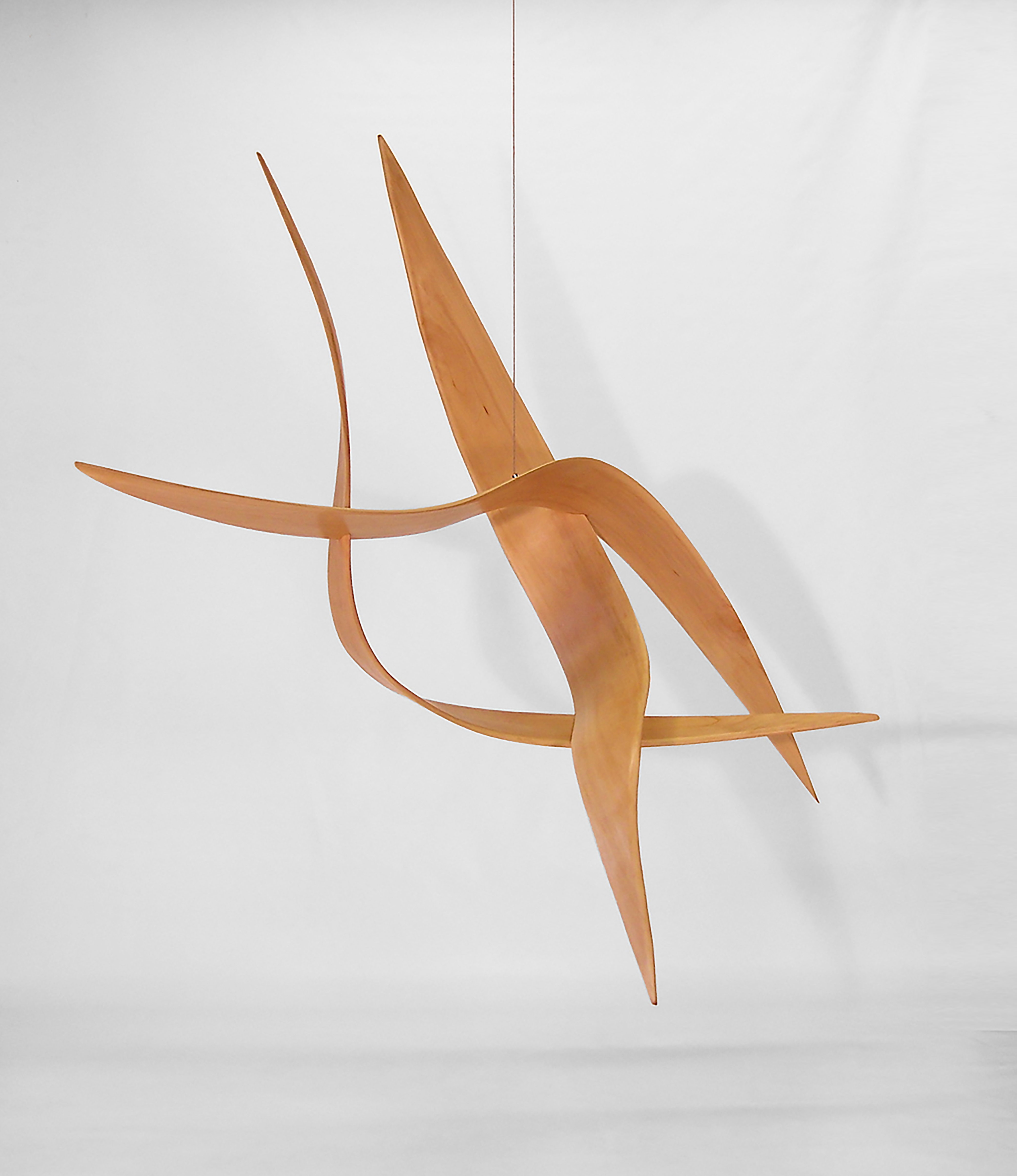 Rick Lazes, Bemsha Swing, Sycamore, 84 x 48 x 84 inches