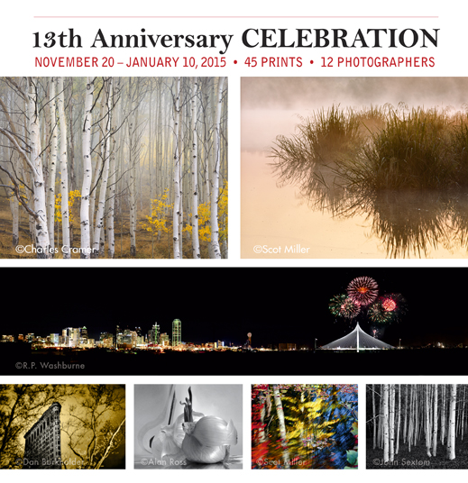 13th Anniversary Celebration - A photography exhibition at Sun to Moon Gallery, Dallas, TX