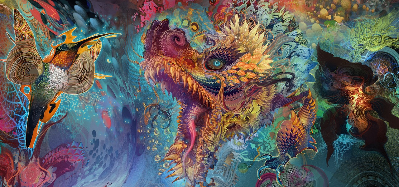 Humming Dragon by Android Jones