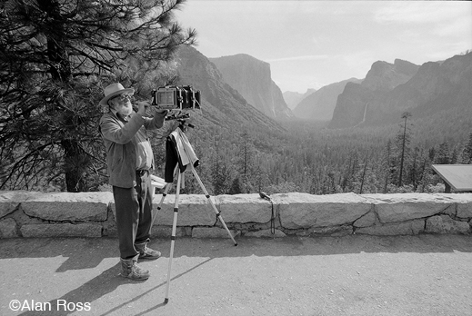 Photograph of Ansel Adams at Inspiration Point by Alan Ross