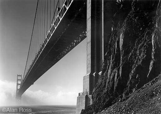 Photograph of Golden Gate Bridge by Alan Ross, at Sun to Moon Gallery