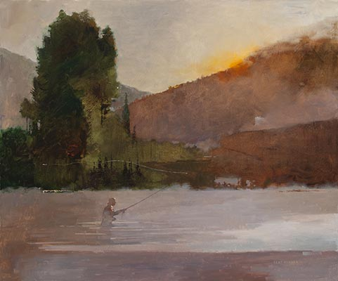 Bart Forbes, Salmon River, 2011, oil on canvas, 30 x 36 inches