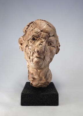 Michael O'Keefe, Indispensable Losses 1, 2014, fired and painted stoneware on granite base