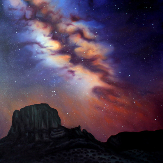 Artist Dawn Waters Baker, Edge of Heaven, oil on canvas, 55 X 55 in. SOLD