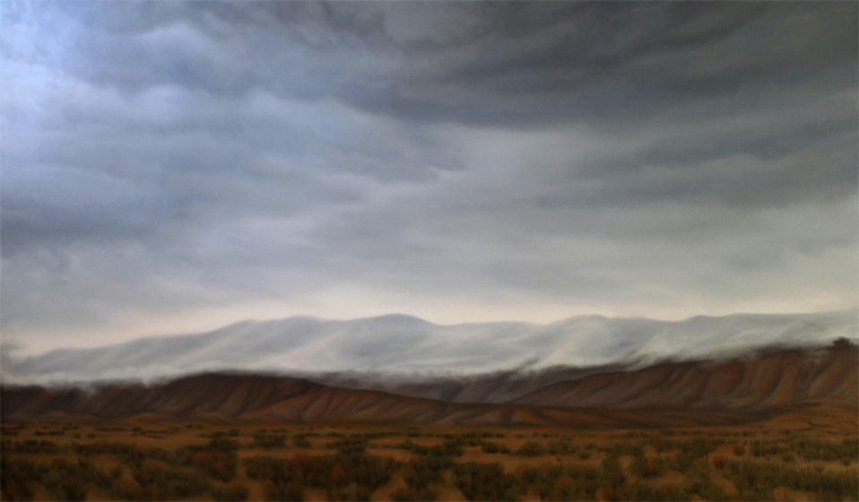 Artist Dawn Waters Baker, Desert Waves, oil on canvas, 36 X 60 in.