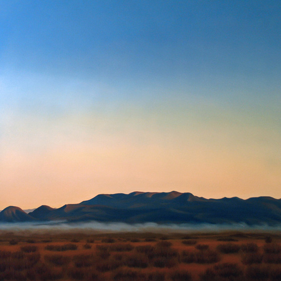 Artist Dawn Waters Baker, Mist and Shadow, oil on canvas, 48 X 48 in.