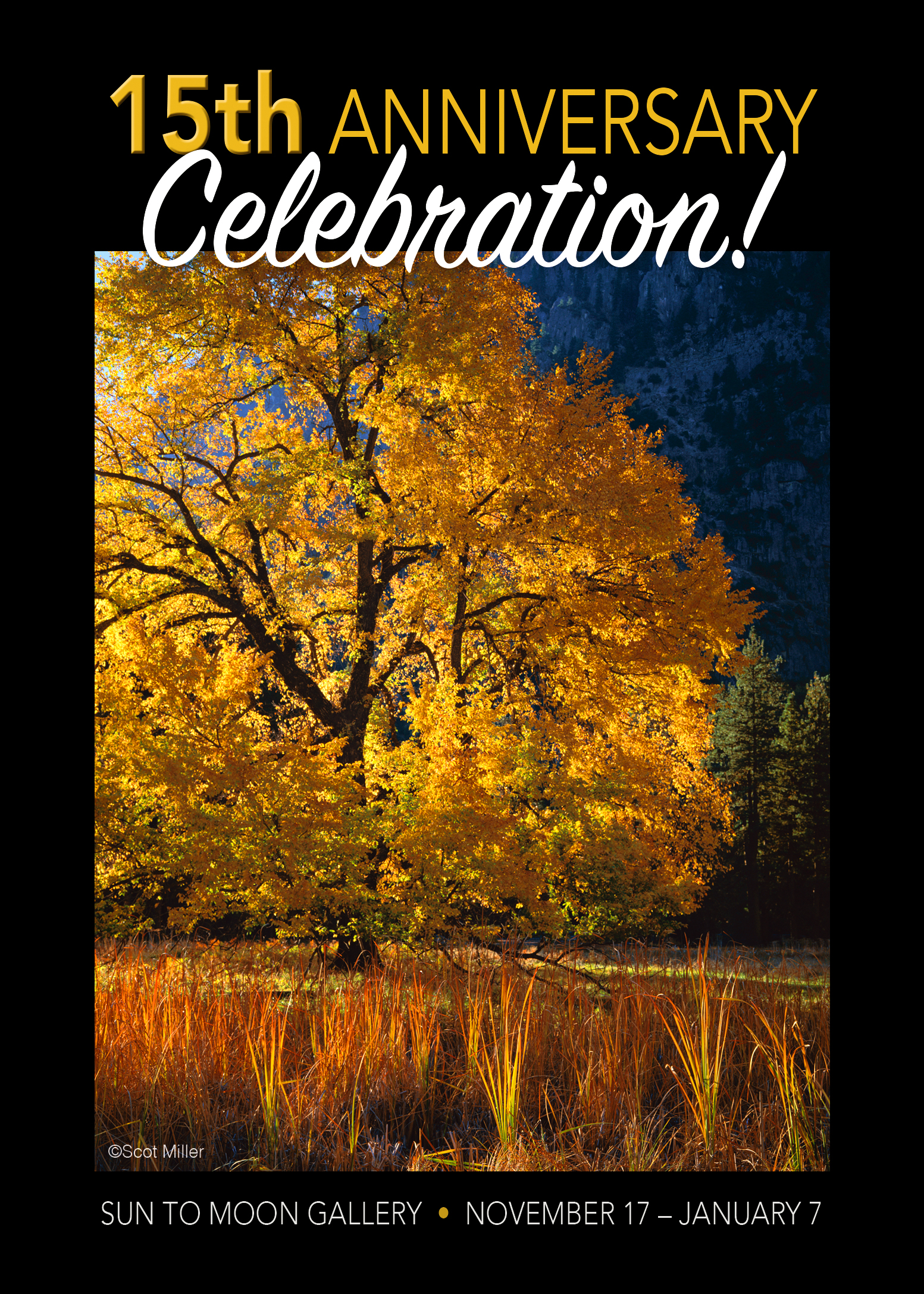 15th ANNIVERSARY RECEPTION & HOLIDAY OPEN HOUSE - Saturday, November 19, 5:00 – 8:00 p.m.