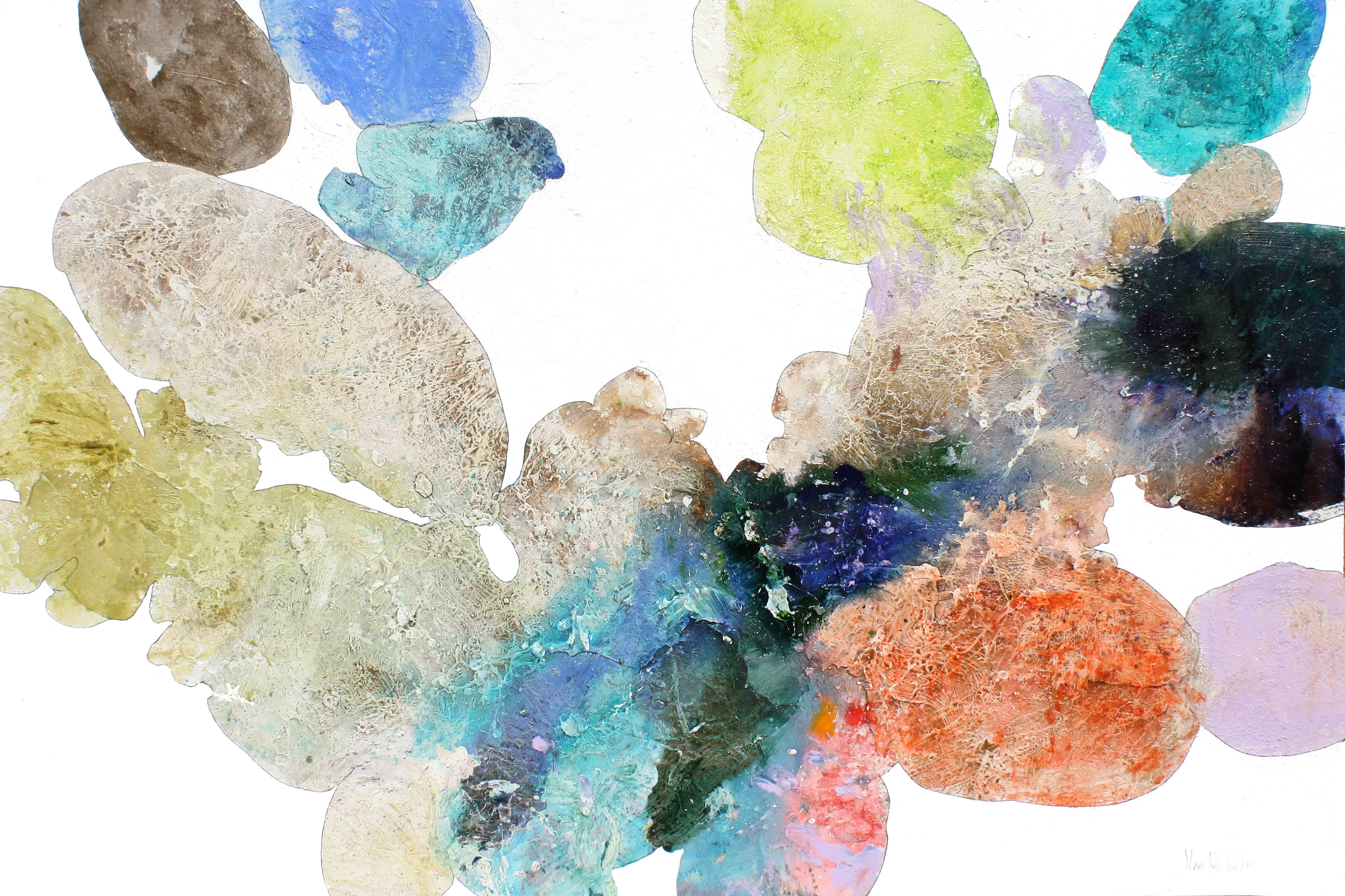Meredith Pardue, Reef XIII, mixed media on canvas, 48h x 72w in