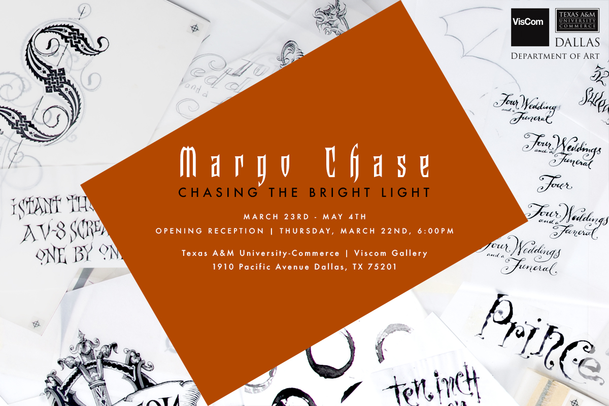 Margo Chase: Chasing the Bright Light Invitation