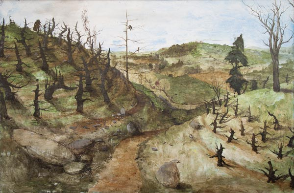 Miles Cleveland Goodwin, <i>Apple Orchard (Appalachia)</i>, 2017, oil on canvas, 40 x 60 inches