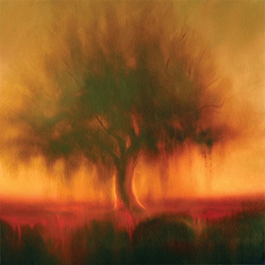 Dawn Waters Baker, Family Tree, oil on canvas, 30x30 in.