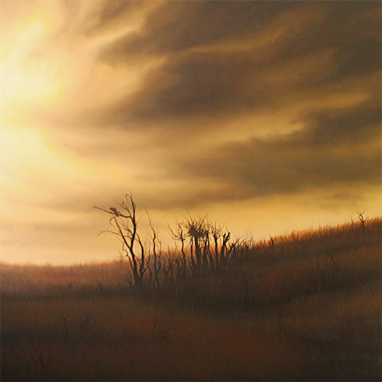 Dawn Waters Baker, Frayed, oil on canvas, 48x48 in.