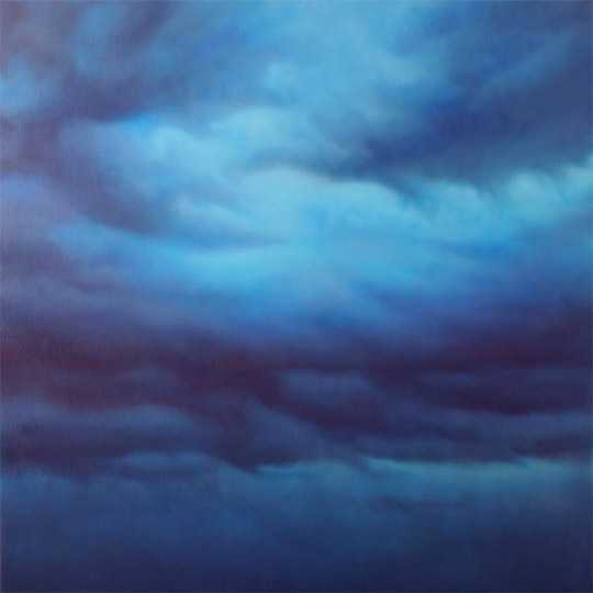 Dawn Waters Baker, Coming War, oil on canvas, 40x40 in.