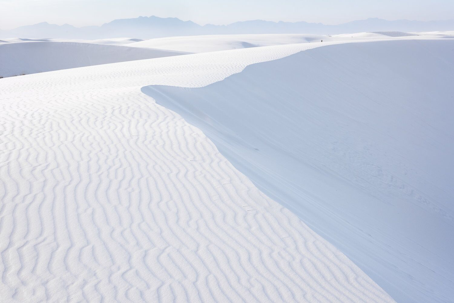 Pastel Dune and Mountains, Spring, White Sands National Monument, New Mexico