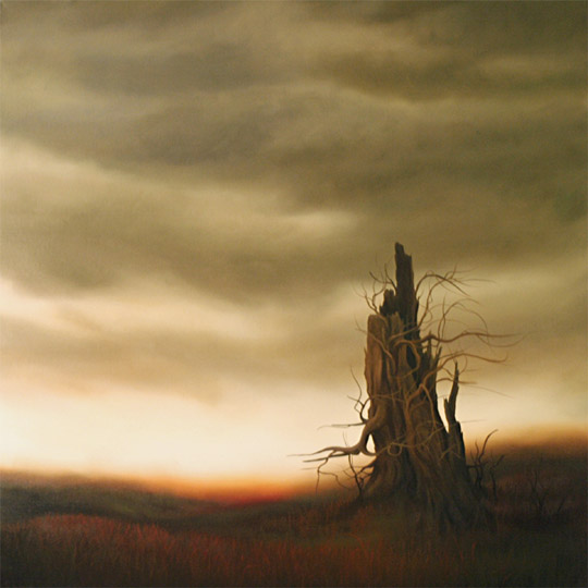 Dawn Waters Baker, Weary, oil on canvas, 40x40 in.