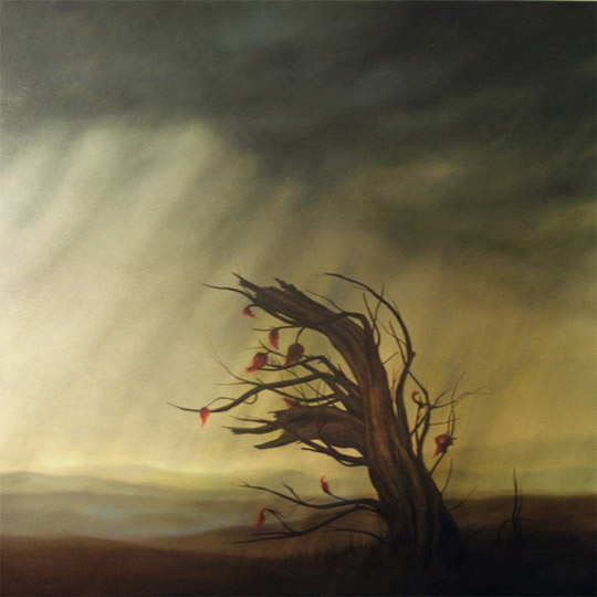 Dawn Waters Baker, Mourn, oil on canvas, 40x40 in.