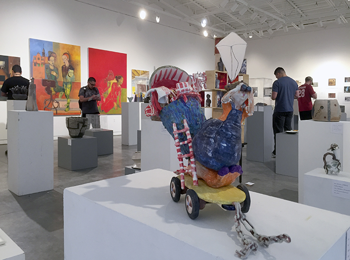 Juried Art Student Exhibition, partial installation view