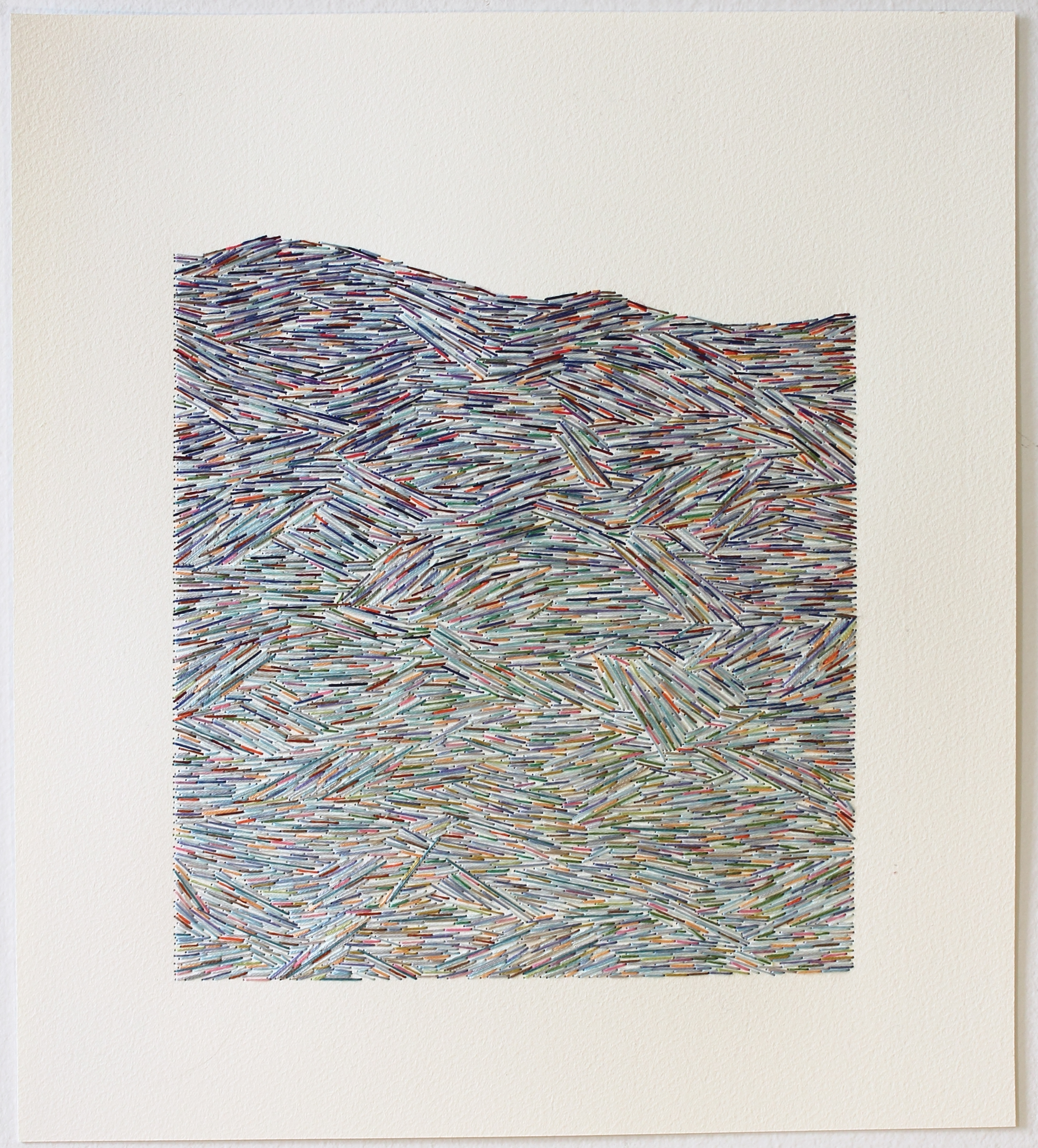 Emily Barletta - UNTITLED 39 - thread and paper