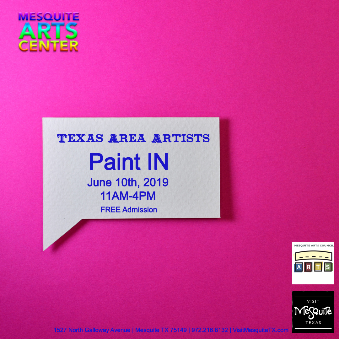 Texas Area Artists: Paint In