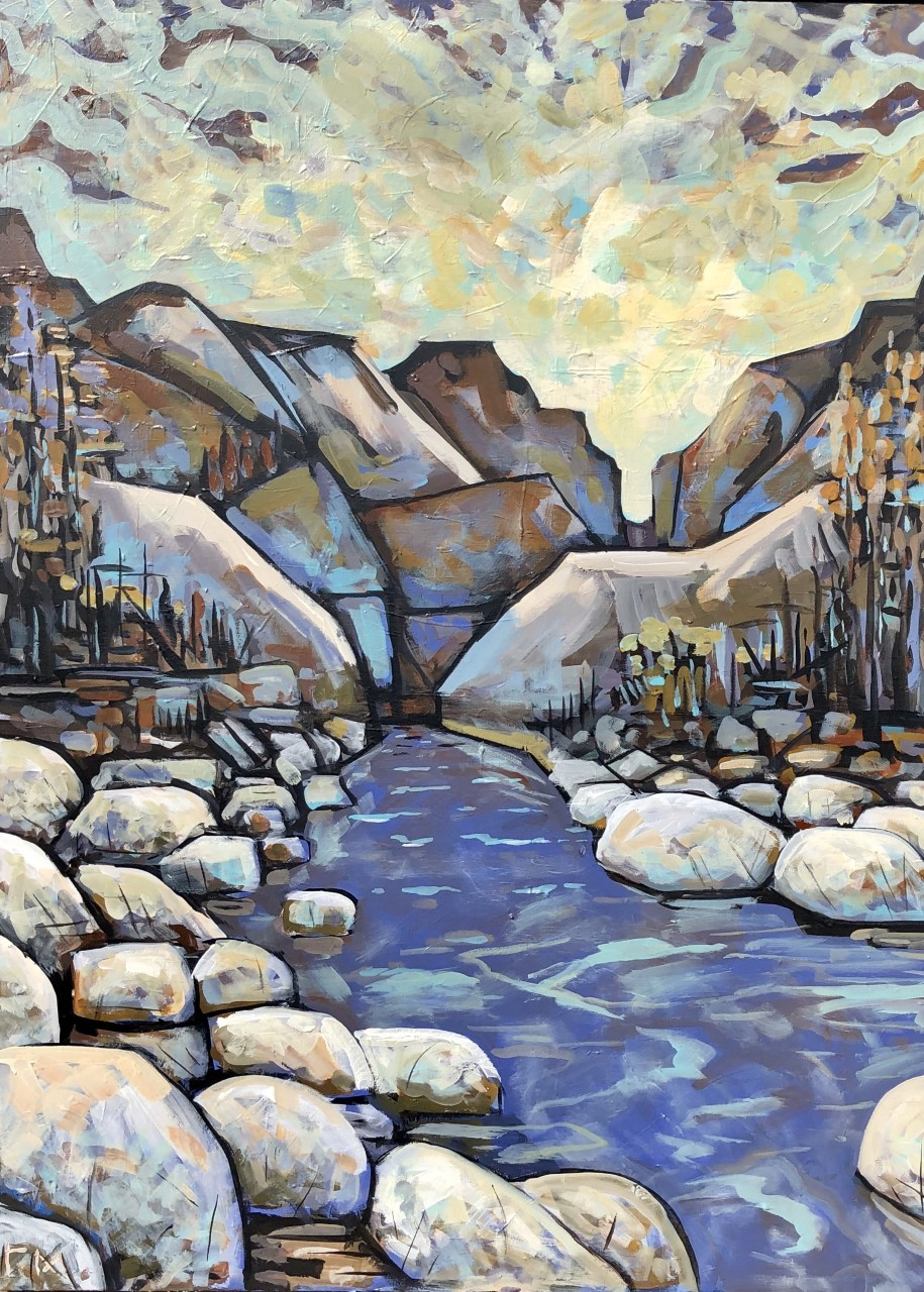 Robert McCormack-The Canyon, 36 x 48