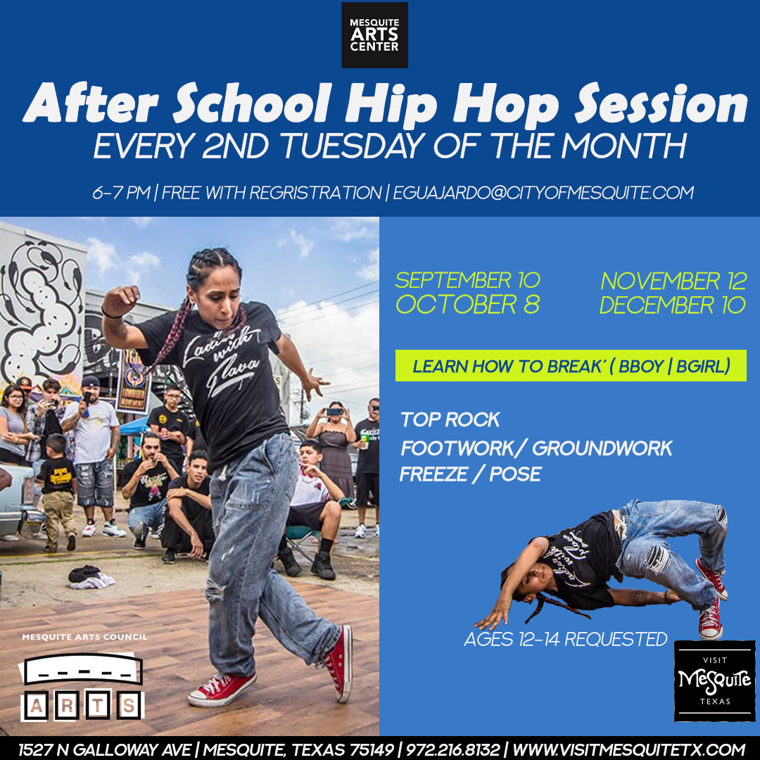 Mesquite Arts Council presents After School Hip Hop Session