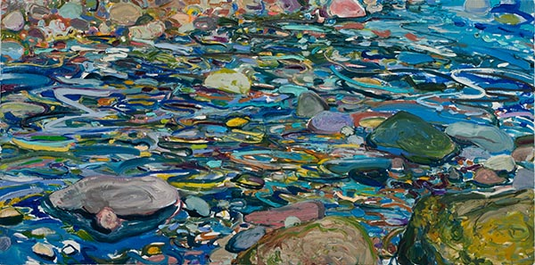 "Lilian Garcia-Roig, ""Cumulative Nature: The Spectrum,"" 2019,  oil on canvas, 24 x 48 inches"