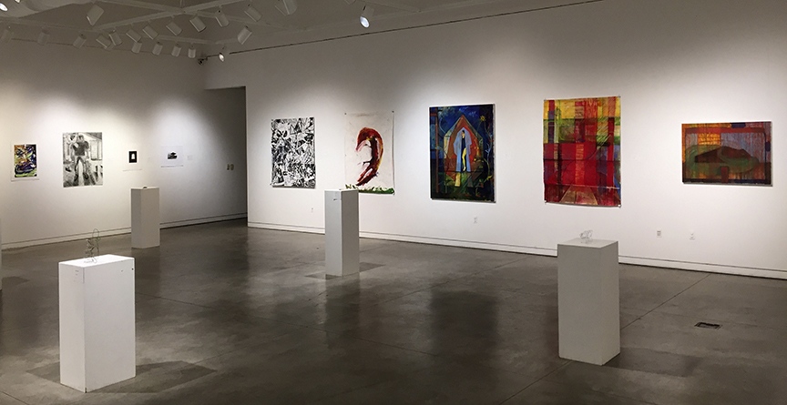 partial installation view, Associate of Arts Qualifying Exhibition