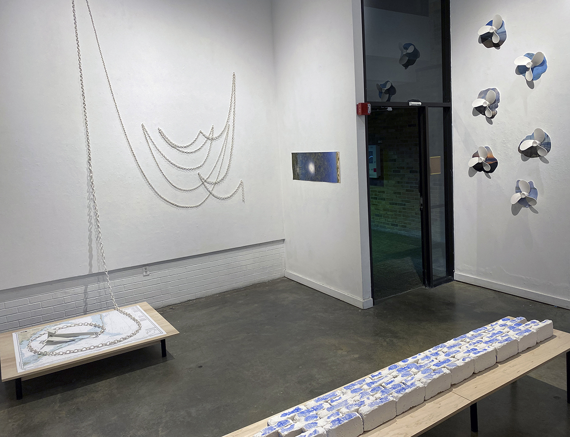 Partial installation view.